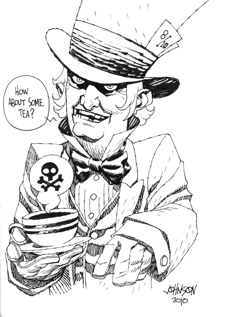 753x1060 Mad Hatter Con Sketch By Devilpig