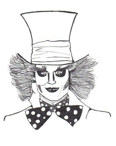 400x503 Mad Hatter Teen Pen Amp Ink About Fan Art And Johnny Depp