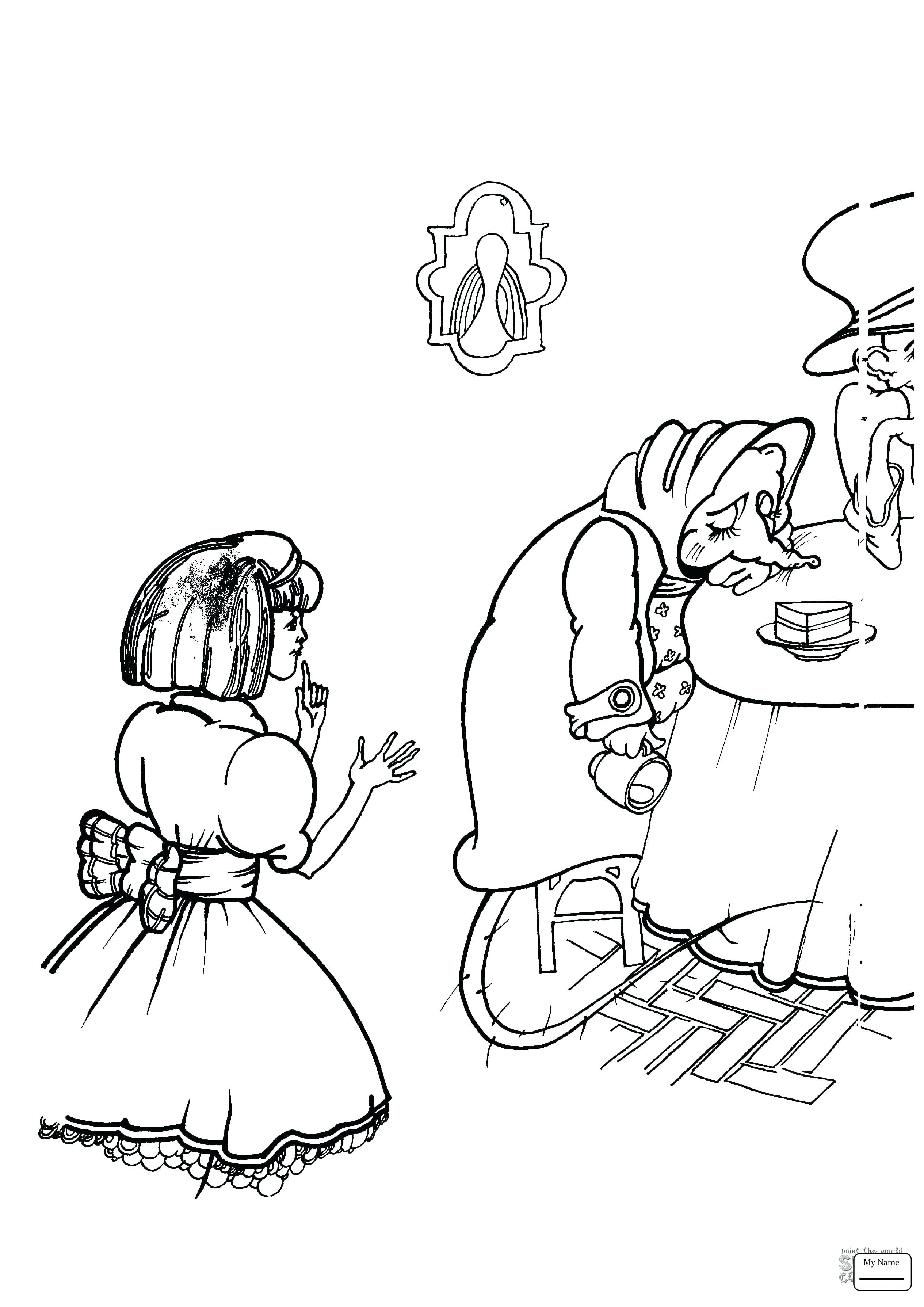 2530x3578 Coloring Mad Hatter Coloring Pages