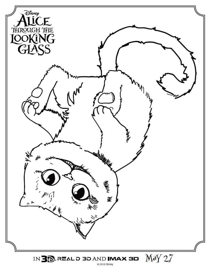 705x912 Check Out These Alice Through The Looking Glass Coloring Pages