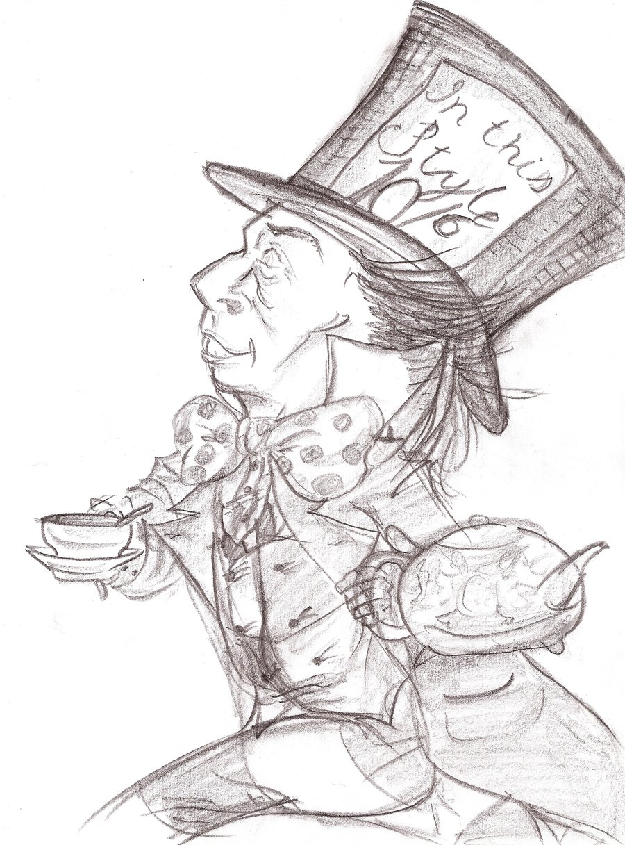 900x1216 Lewis Carroll's Mad Hatter By Trulytranian