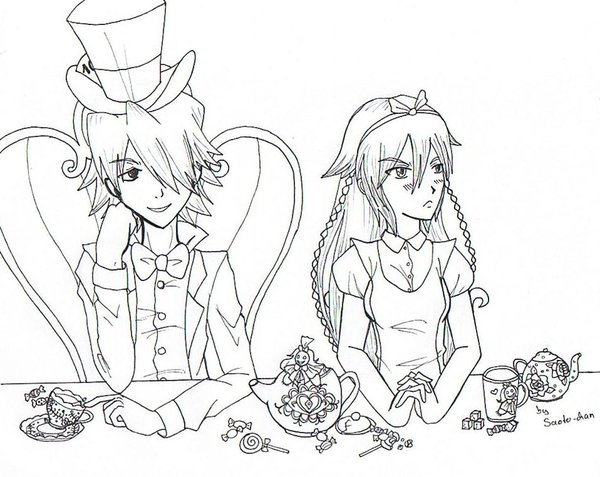 600x477 Mad Hatter And Alice By Saoto