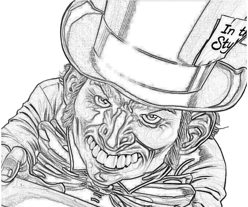 800x667 Mad Hatter Batman Coloring Pages Carnage Coloring Pages