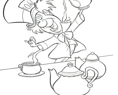 400x322 Mad Hatter Coloring Pages Mad Hatter The Mad Hatter Was Having