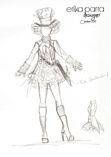 455x640 Mad Hatter Costumes Sketches!