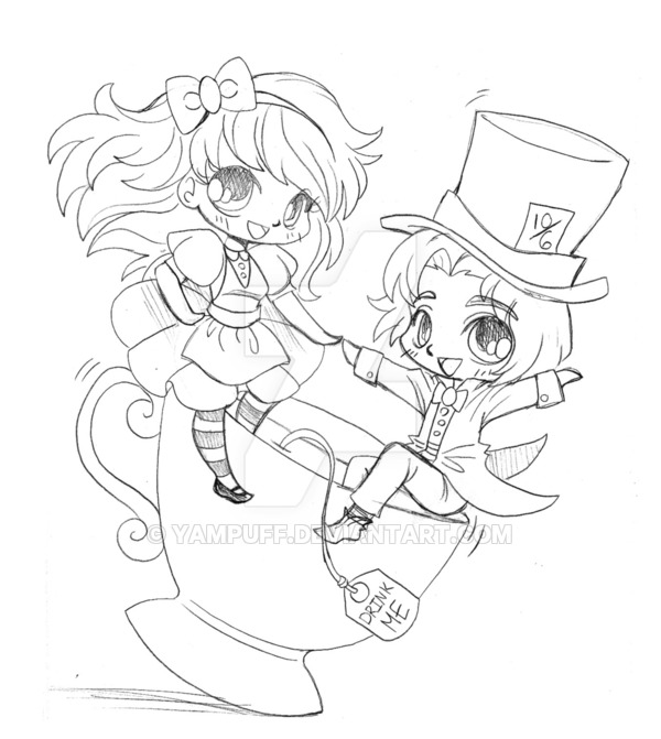 600x671 Alice And Mad Hatter Commission