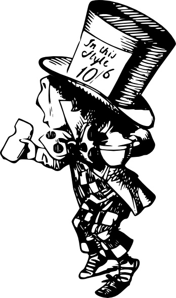 348x589 Mad Hatter Clip Art Free Vector In Open Office Drawing Svg ( Svg