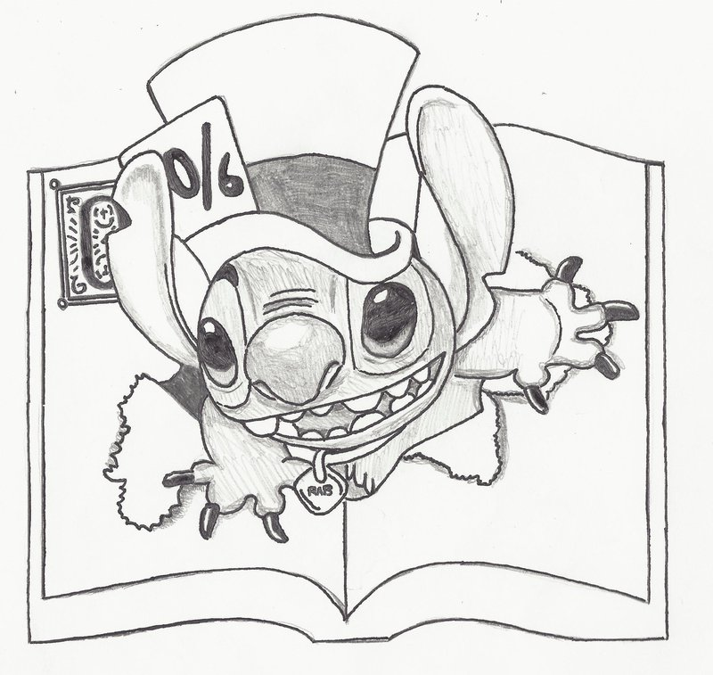 800x757 Stitch Mad Hatter By Unbaileyvable