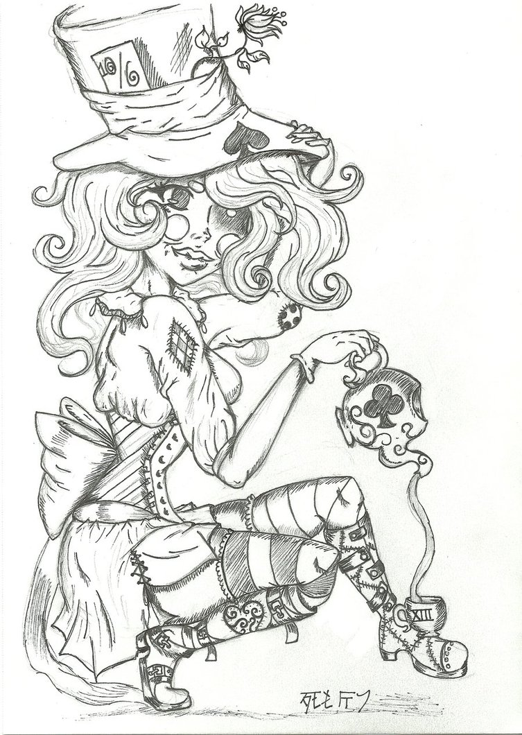 753x1060 The Mad Hatter Ii By Shiori Bloodmoon