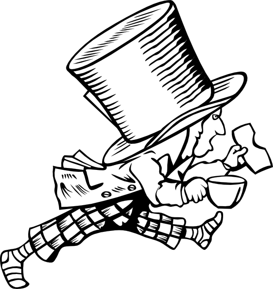 564x597 Mad Hatter 4 Clip Art