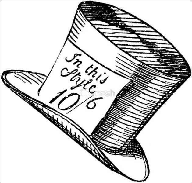 mad hatter hat drawing at getdrawingscom free for