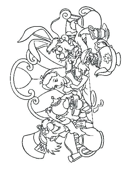 432x555 Mad Hatter Coloring Pages Mad Hatter The Mad Hatter Was Having