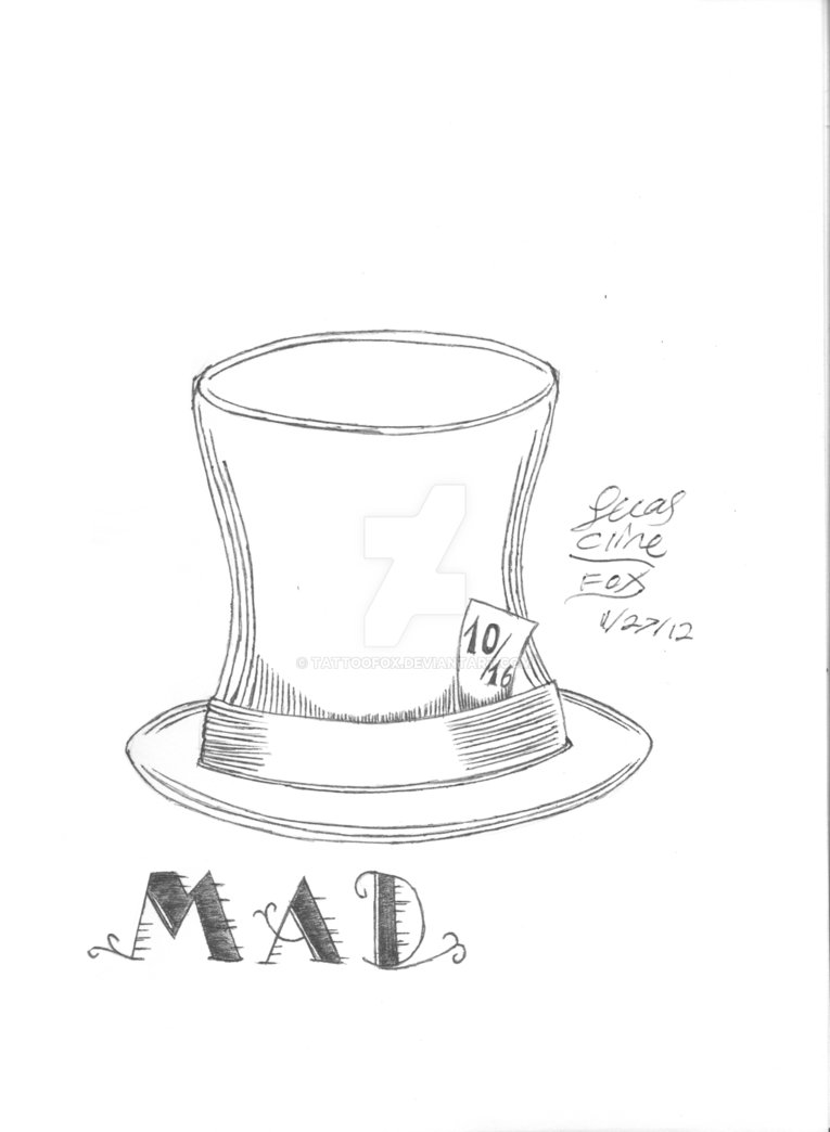 765x1044 Mad Hatter Hat Flash By Tattoofox