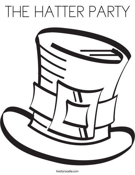 468x605 The Hatter Party Coloring Page