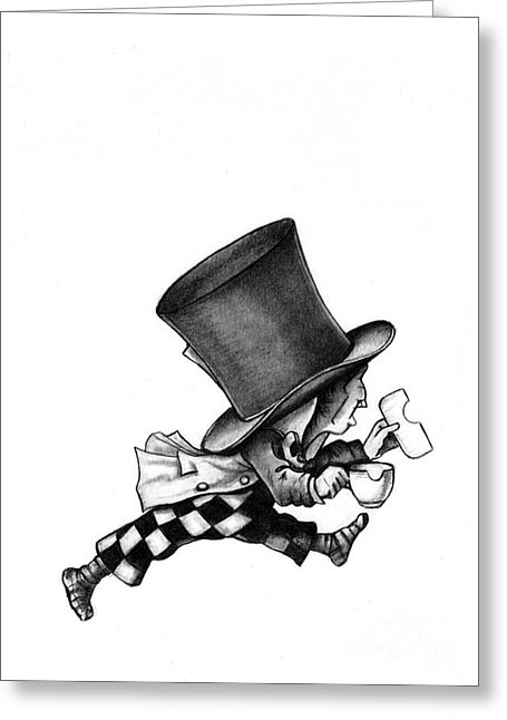 455x646 The Mad Hatter No 2 Pencil Drawing Drawing By Debbie Engel