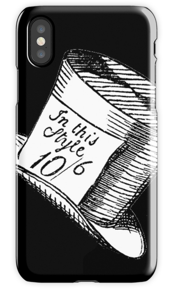 600x1000 Alice In Wonderland Classic Mad Hatter Hat Iphone Cases Amp Skins