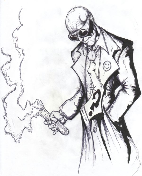 Mad Scientist Drawing