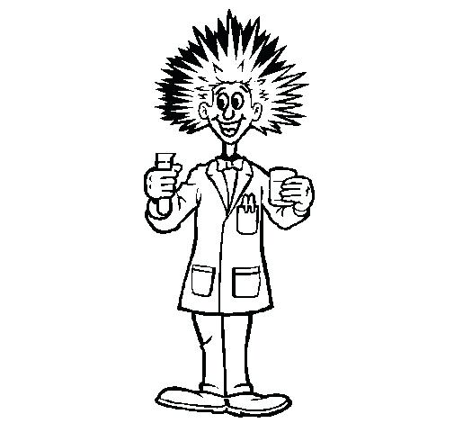 505x470 Minimalist Scientist Coloring Pages New Mad Science Free Printable