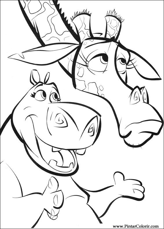 567x794 Drawings To Paint Amp Colour Madagascar 2