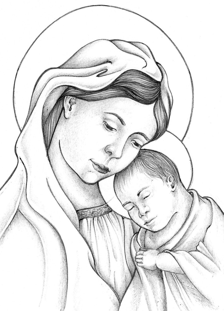 721x1000 Madonna And Child By Dperez Redbubble