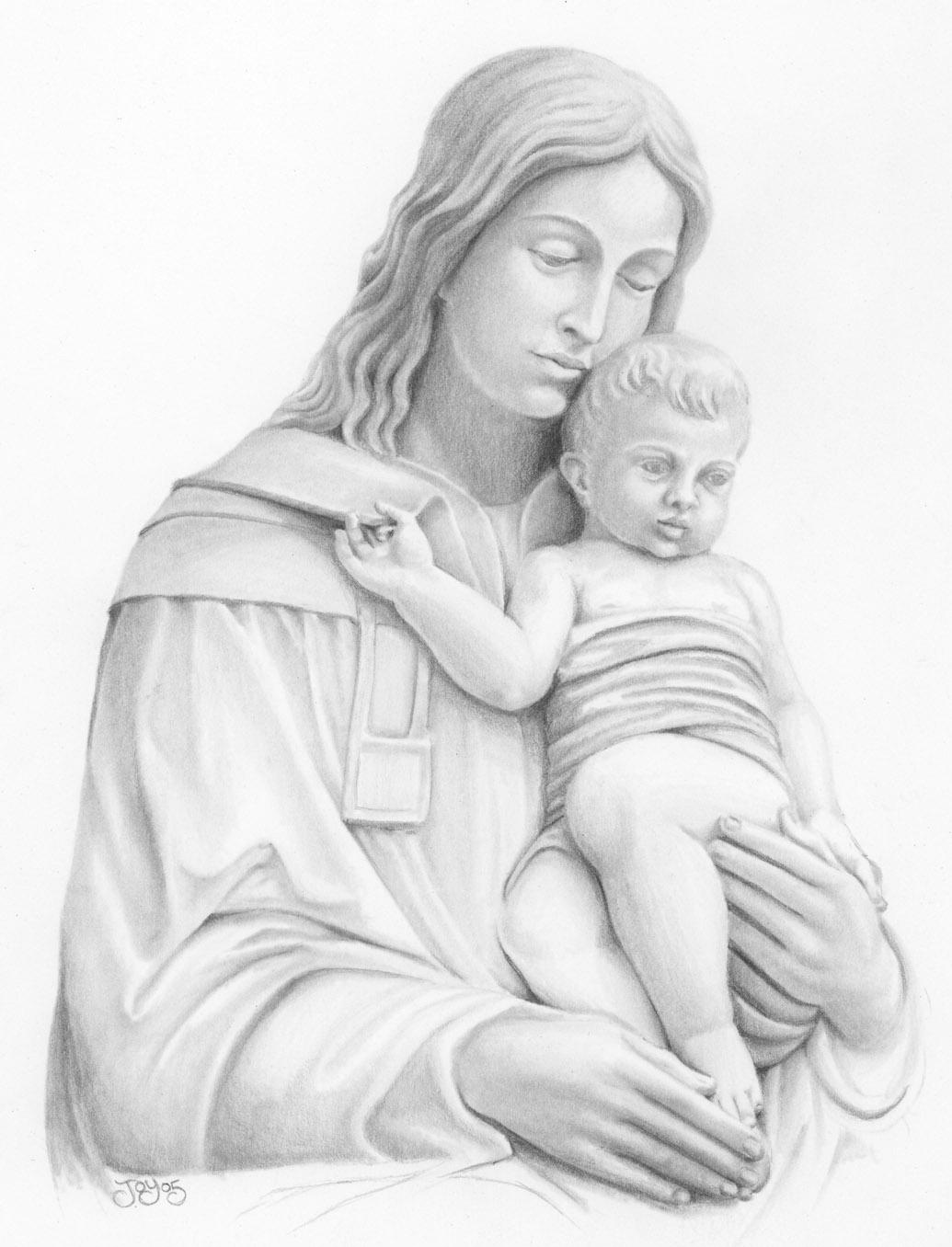 1035x1356 Madonna And Child By Joykodani