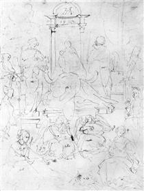210x279 Study Of The Madonna And Child With A Cat, C.1478