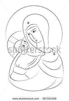 236x345 Virgin Mary With Child On Her Arm