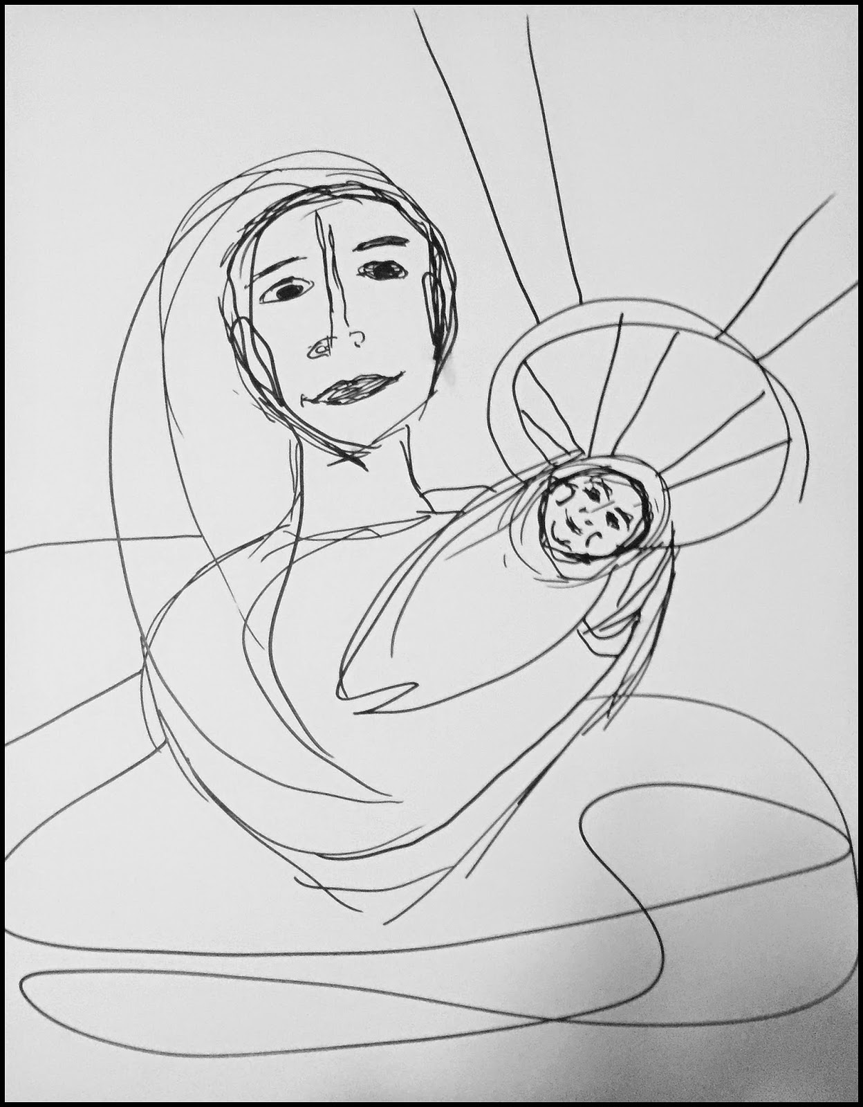 1248x1600 Art Madonna With Child A Contemporary View Of Its Renaissance Form.