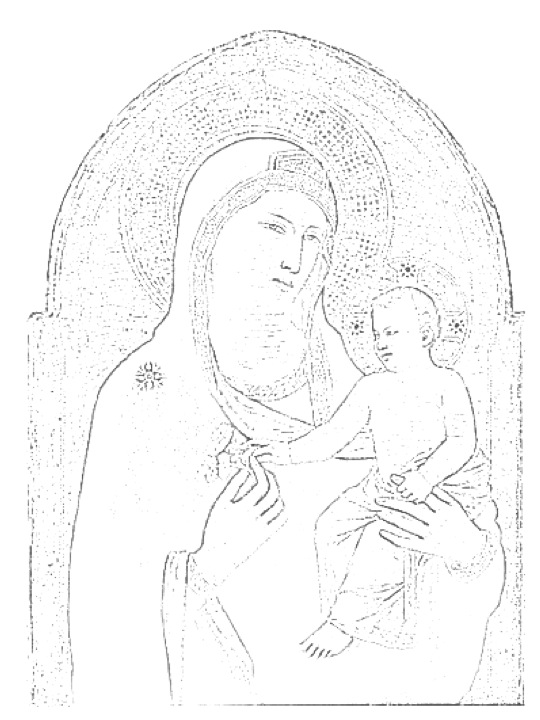 540x720 Template For Recreating Giotto's Madonna And Child. I Printed
