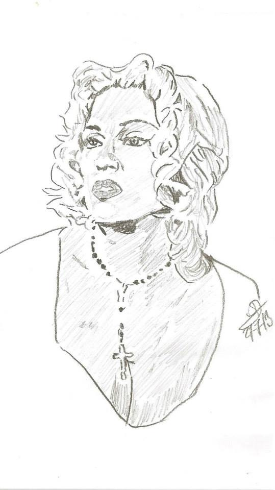 539x960 Madonna Four Rooms Tarantino Rodriguez Drawing By Sbdrawings