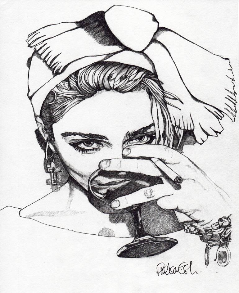 770x944 Saatchi Art Madonna 7 Drawing By Paul Nelson Esch