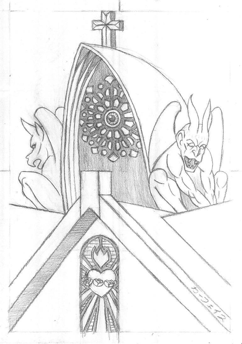 770x1094 Saatchi Art Madonna With Gargoyles [La Vierge Aux Gargouilles