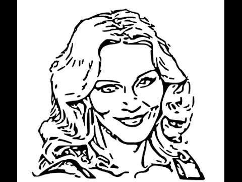 480x360 How To Draw Madonna Face Sketch Drawing Step By Step