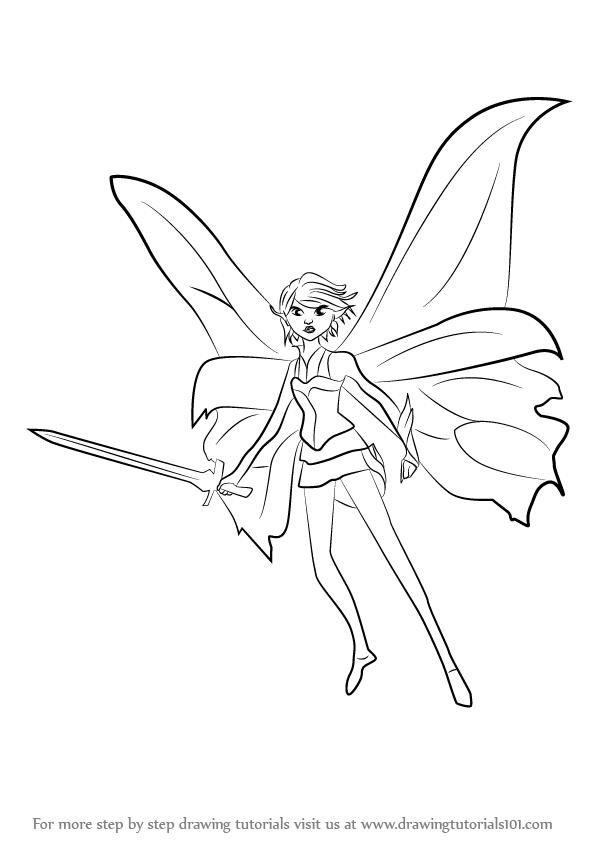 596x843 Learn How To Draw Marianne From Strange Magic (Strange Magic) Step