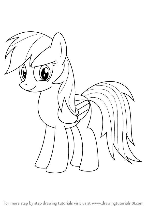 598x844 Learn How To Draw Rainbow Dash From My Little Pony Friendship Is