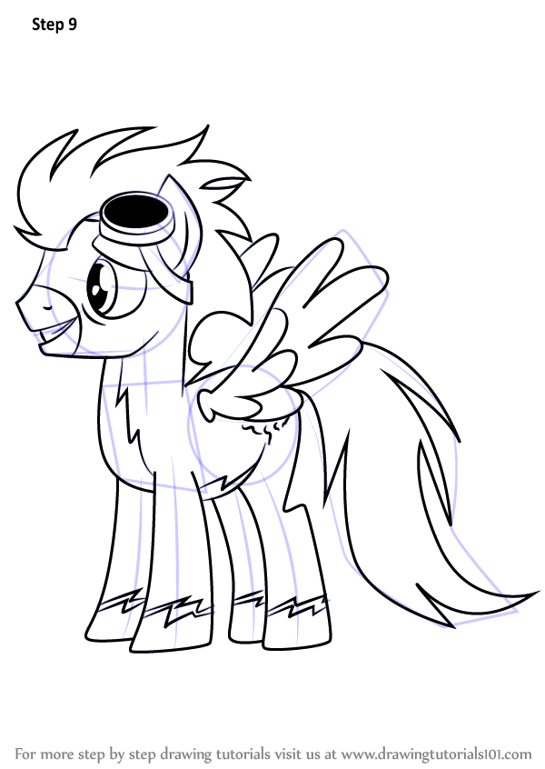 600x846 Learn How To Draw Soarin From My Little Pony