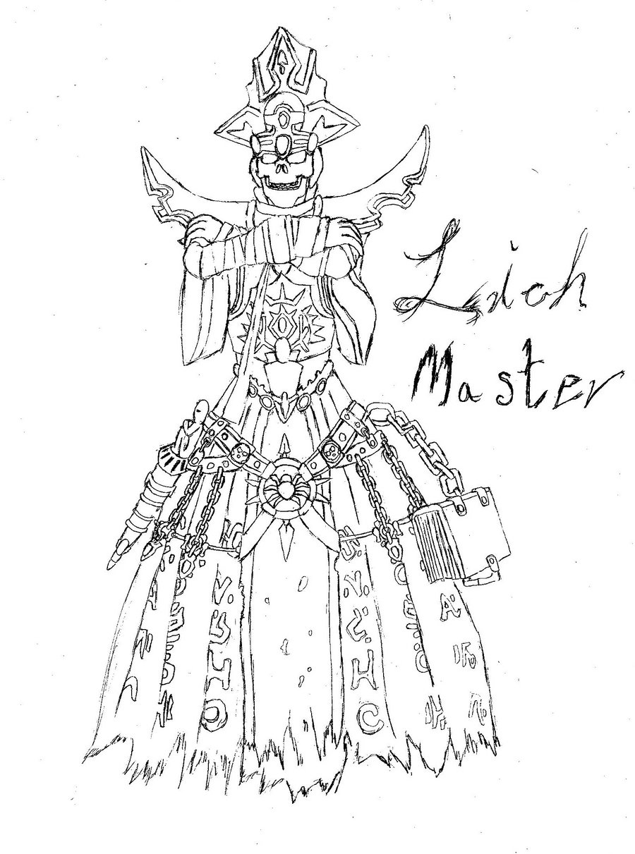 900x1211 Heroes Of Might And Magic 5 Lich Master Sketch By Fameng