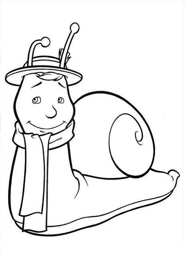 600x827 How To Draw Brian The Snail From The Magic Roundabout Coloring