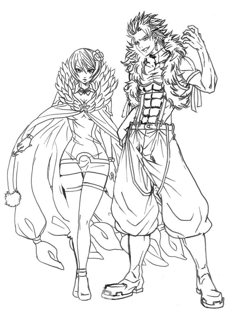 752x1063 Sting And Yukino Magic Games (Sketch) By Nizhan