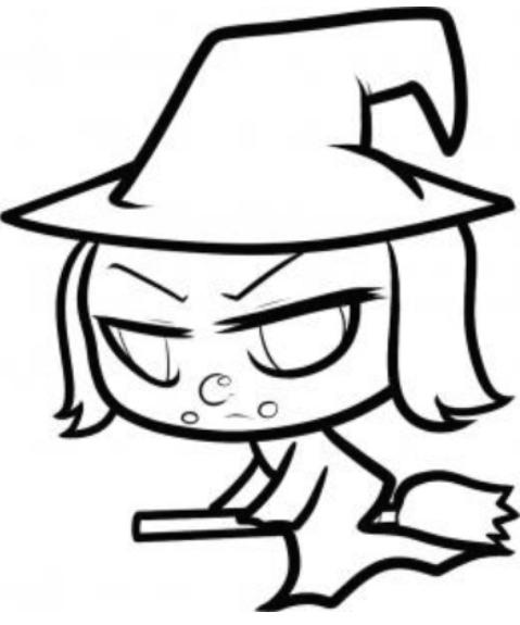 479x575 How To Draw Anime Witch Magic Zombie