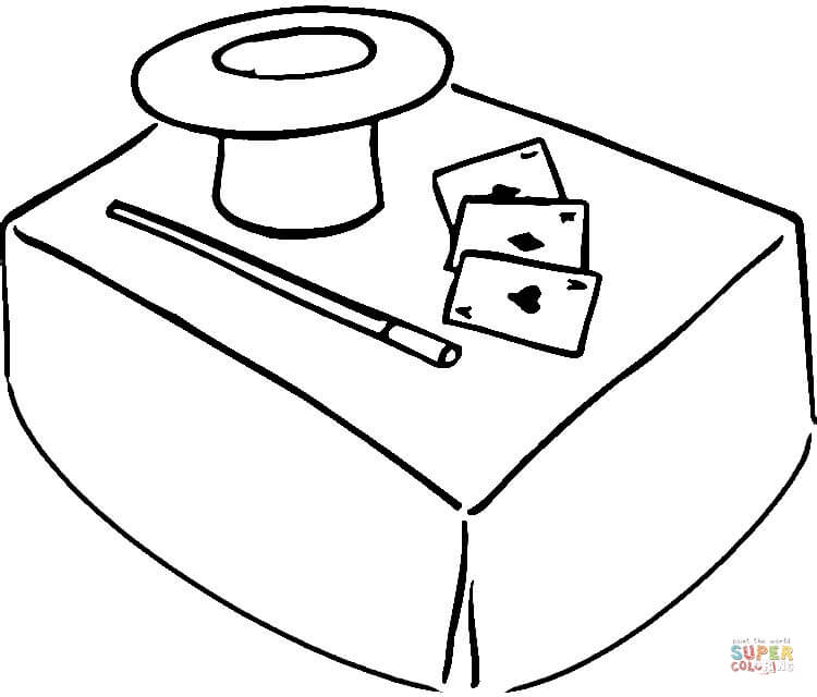 750x640 Magic Hat Coloring Page Free Printable Coloring Pages