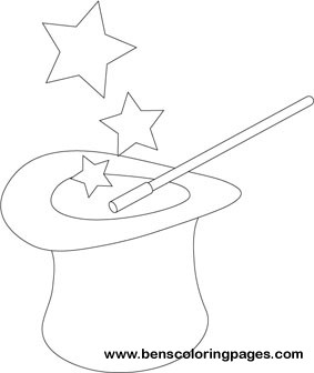 283x336 Magic Hat Coloring Pages