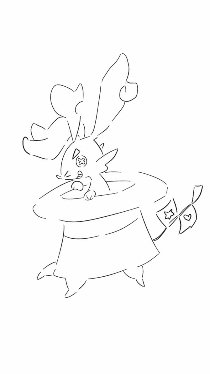 670x1191 Magic Hat Fakemon By Crissyg