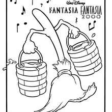 220x220 Fantasia Magic Hat Coloring Pages