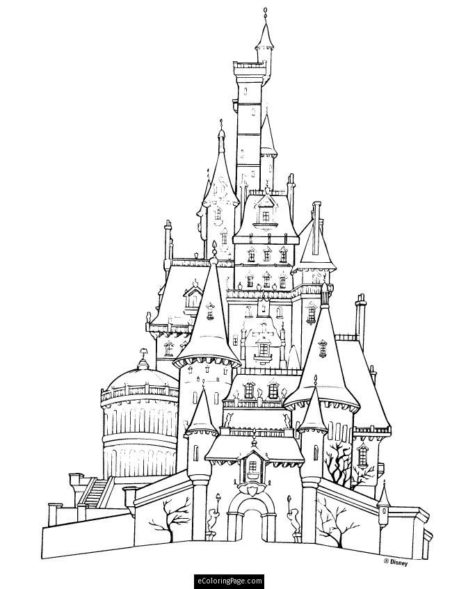 660x847 Disney Beauty And The Beast Castle Printable Coloring Page