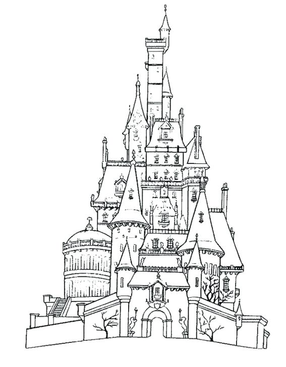 567x728 Disney Castle Coloring Page Princess Castle Coloring Pages Free