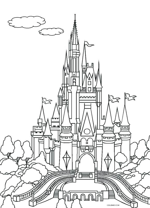 578x800 Disney Castle Coloring Pages Fairy Tale Castle Coloring Page