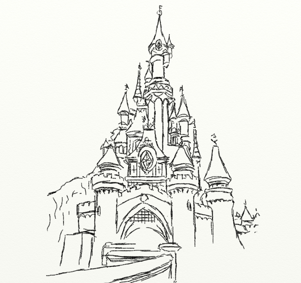 1024x962 Disney World Castle Drawing Disney Cinderella Castle Drawing Nice