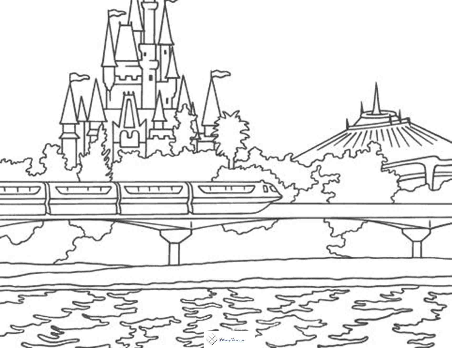 1896x1461 Magic Kingdom Castle Coloring Pages Web Coloring Pages