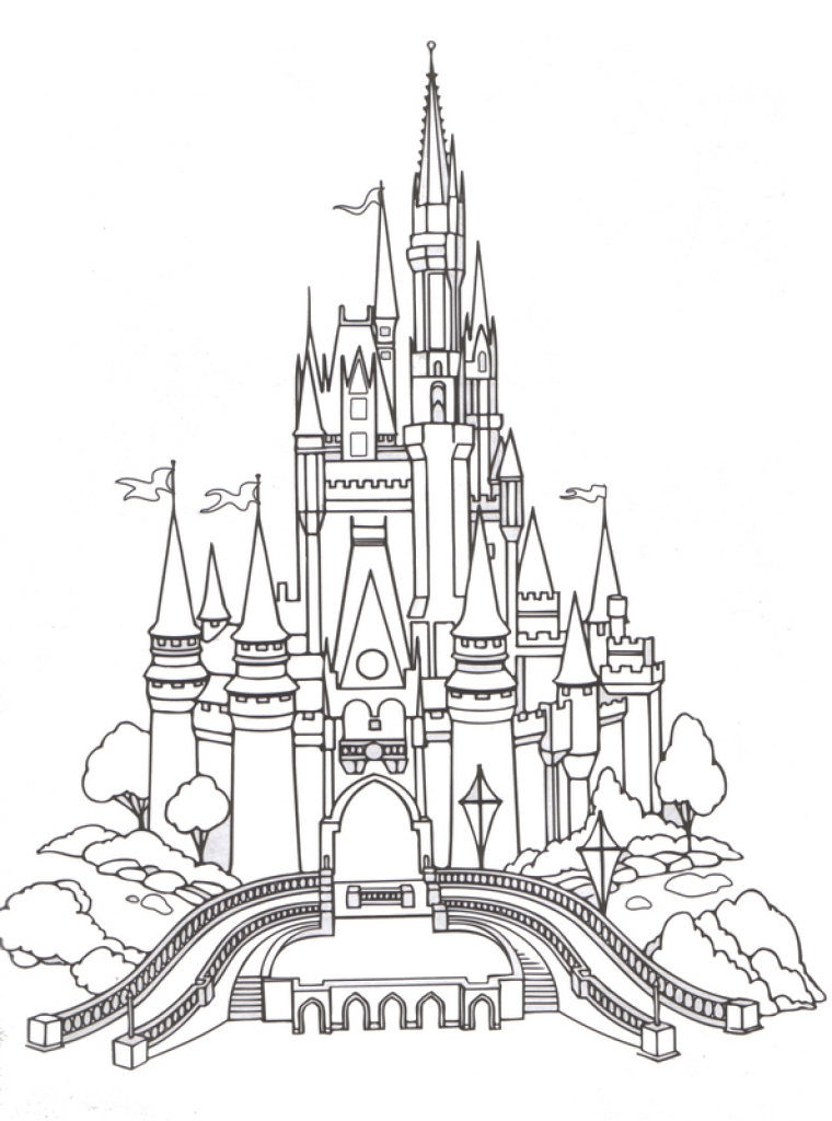 760x1024 Magic Kingdom Coloring Page Color Me Happy Walt